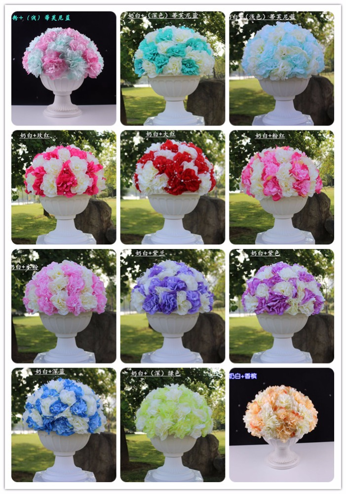 New arrival table wedding decoration artificial flowers decoration wedding centerpiece for sale