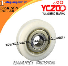 White mini 6201 carbon steel bearing fiber glass roller for sliding door