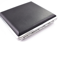 pocket custom locking blank real leather fancy tin slim cigarette case box designer