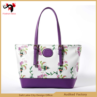 2015 soft leather handbag China wholesale famous brand name lady's bag high quality