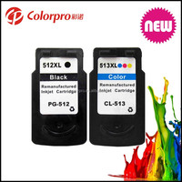 Best Quality for canon PG512 CL 513 remanufactured ink cartridge for canon pixma ip2700