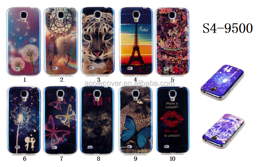 High Quality Colorful Printed TPU case cover for Samsung S4 I9500, For Samsung Galaxy S4 mobile phone case