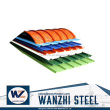 blue roofing shingles/aluminium corrugated roofing sheets/Prepainted embossed galvanized corrugated
