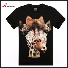 Wholesale 3D giraffe animal <strong>design</strong> men tshirt t-shirts chinois grossiste