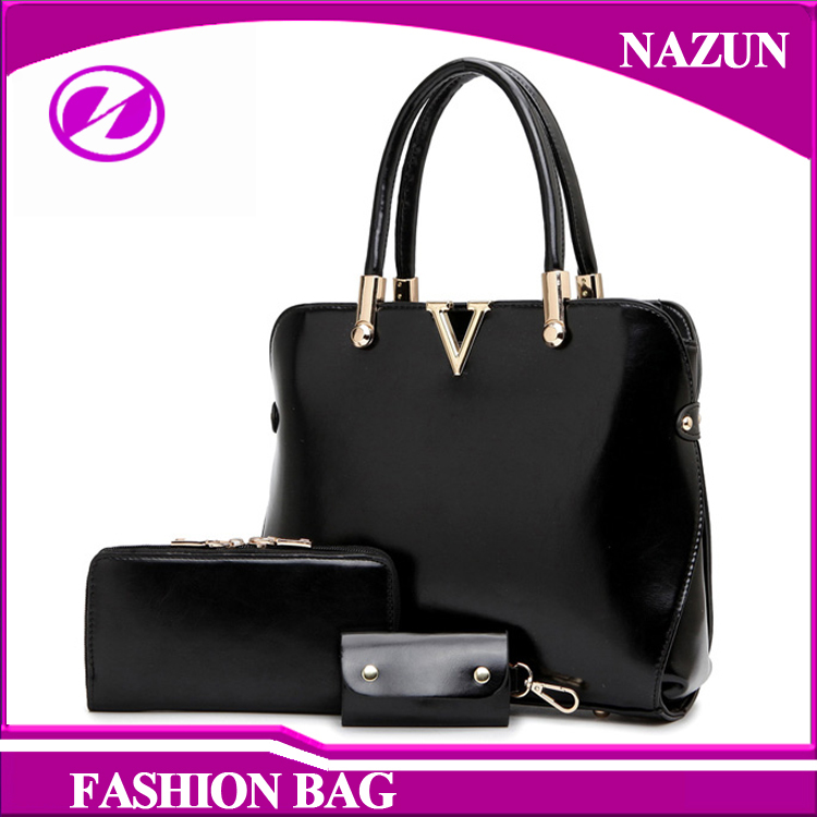 Buy One Get 3 Bags Cheap And Good Quality PU Leather Bag Ladies Bag Set