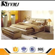 2016 New modern fabric bed with diamond buttons tall headboard upholstered bedstead manufactured in China