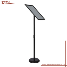 Shopping Mall Store Metal Adjustable Poster Display Frame Stand