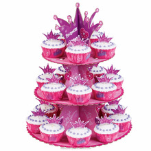 Flower Shape 3 tier Cardboard Cupcake Stand for parties
