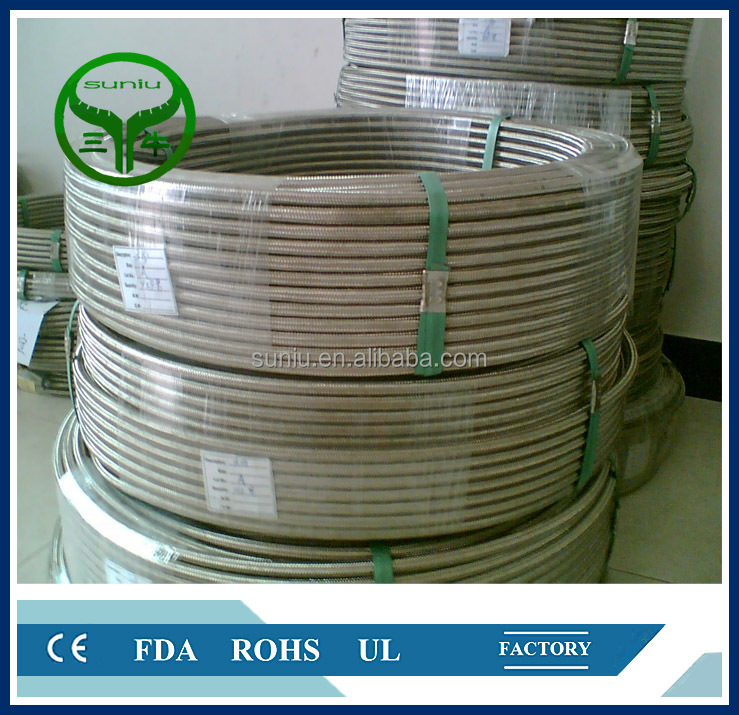 high pressure ss 304 2 inch smooth bore teflon ptfe <strong>hose</strong> Explosion proof stainless steel wire braiding flexible <strong>hose</strong>
