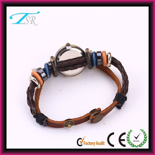 Bracelet wrap watch 2014 big designer watch straps leather,quartz ladies watches