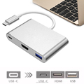 USB 3.1 TYPE-C TO HDMI+USB3.0+TYPE-C/F ADAPTER