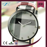 alloy case and pu leather band lady watches cheap with unique color