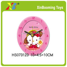 Plastic Oval table Alarm Clock for kids