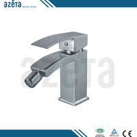 Bathroom Single Hole Brass Square Hot Cold Bidet Faucet
