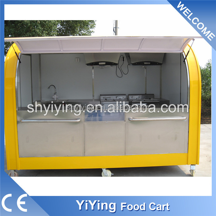 Street coffee truck /coffee kiosk with wheels YY-FS290A for sale