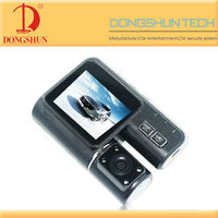 DS-X2 2 inch car dual camera dvr recording with HD IR Camera