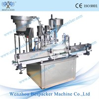 Stainless steel automatic liquid small spray bottle filling and capping machine