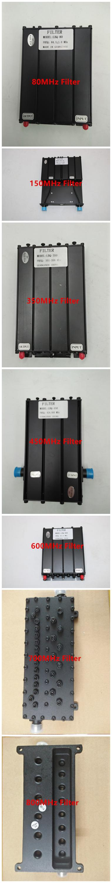High Quality UHF 400-520MHz Bandpass Filter for Radio Repeater