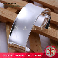 Adjustable silver plated big bangle bracelet for new kids sex 2014 B042
