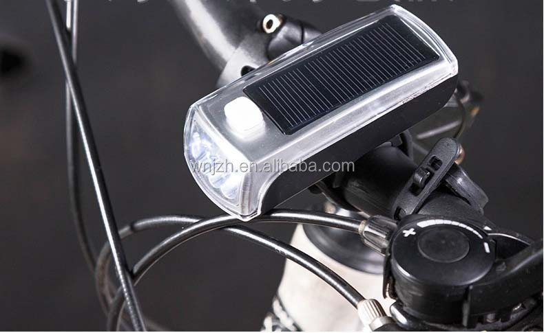 4 LED Rechargerable Solar Bike Light With Bugle