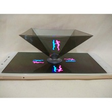 2017 Smartphone 3D hologram projector,Mini Pyramid Hologram for smartphone, 3D Hologram Display OEM logo