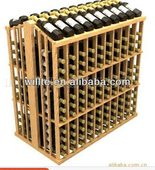 Customized large capacity factory wholesale wood bottle shelf for wine,beer,drink ,liquor