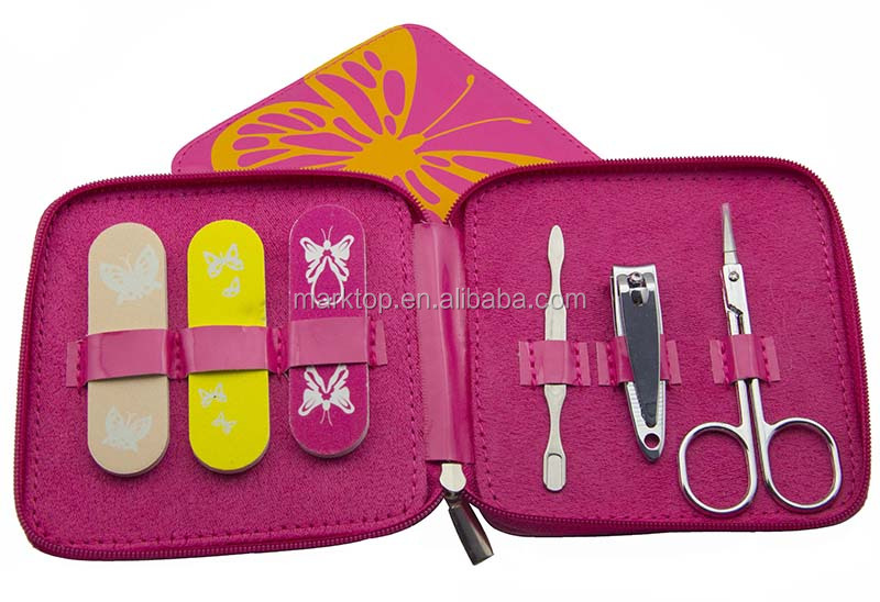 Marktop Travel manicure set for girls and women .nail clipper ,nail file ,beauty care tools