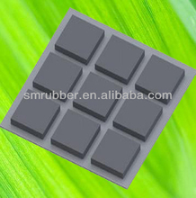 square self adhesive rubber bumper feet pad