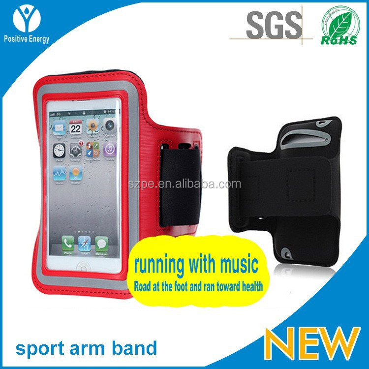 Mobile phone lycra sports armband case for iphone4/4s/5/5s/5c