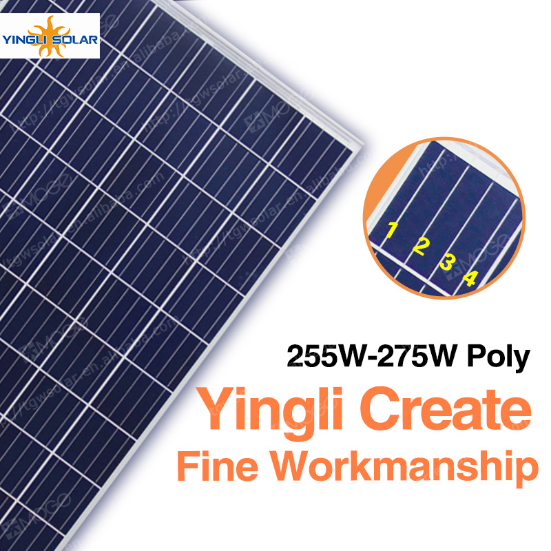 China best pv supplier yingli solar panel yl260p-29b for home,500w solar panel system