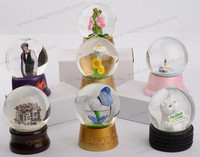80mm Resin and Glass 3D Water Dome Snow Globe