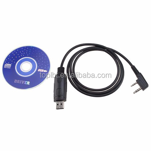 USB Programming Cable for Baofeng UV-5R UV-3R+ Two way Radio With Driver CD
