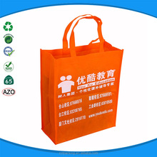 Promotional products orange color non woven shopping tote bag