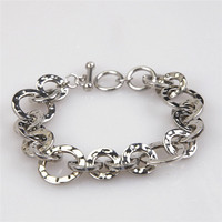 Yiwu Aceon factory high quality wholesale price Washer Link Hammered Bracelet