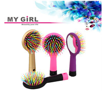 ningbo factory long tail wide tooth plastic comb,2016 My girl colorful plastic comb for personal use