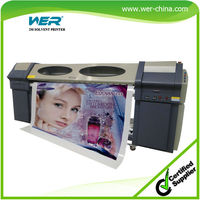 Popular 2.5m WER S2504 large format digital solvent printer, large format solvent printer