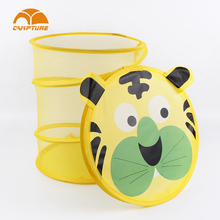 mini pop up basket portable pop-up collapsible Small Laundry Hamper Animal Shape Baskets Wholesale