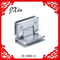 High quality 90degree glass to glass shower door hinges for bathroom