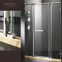 Graceful Stainless Steel Hinge Bath Shower Screen