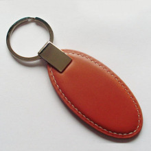 Oval Leather Key Chain For Promotion