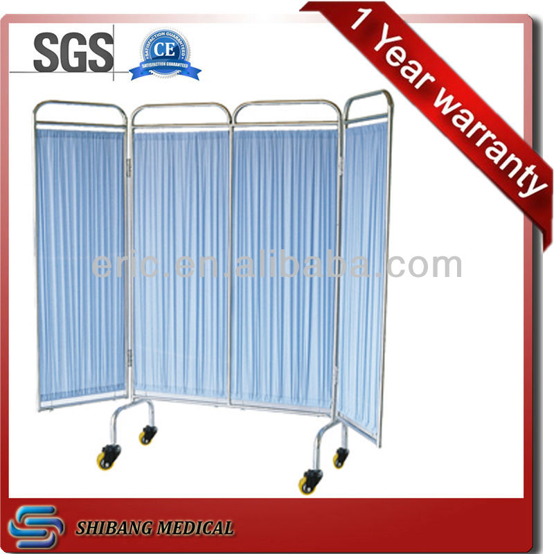 CE & ISO Approved!! hospital ward 4 folded stainless steel screen,Biombo