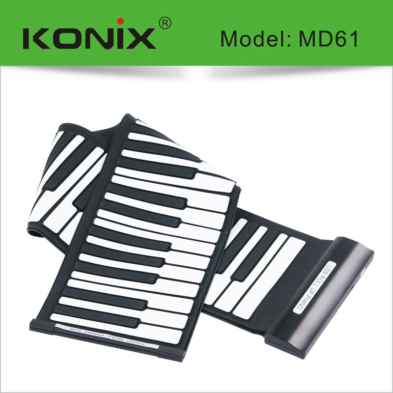 Musical Instrument Electronic Keyboard Piano Midi 61 Keys Digital Roll Up Piano