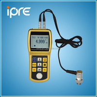 portable ultrasonic thickness gauge for steel / plastic / glass