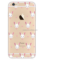 Clear Transparent Bunny rabbit cute design TPU soft case for iPhone 5 5S SE