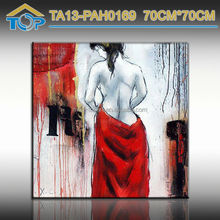 High quality home decoration handpainted nude sexy Girl Framed photo oil paintings