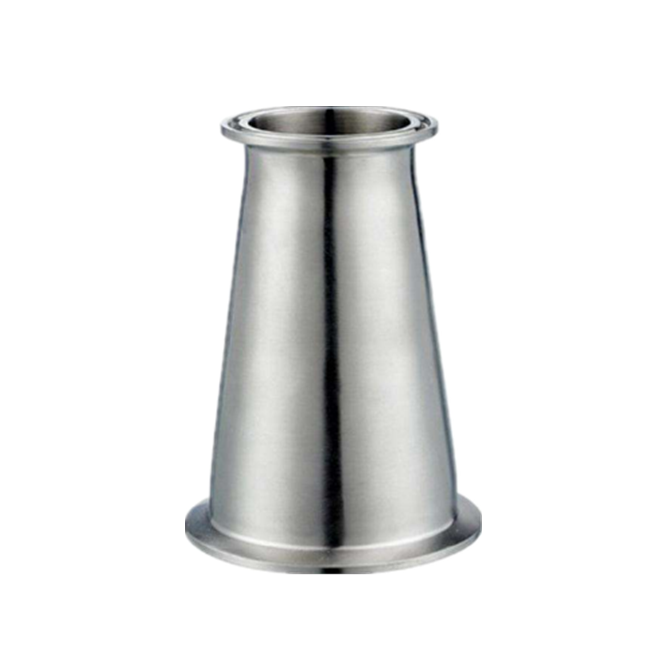 Mirror polished Stainless Steel clamped concentric reducer pipe fitting joint for Jointing Pipe Lines