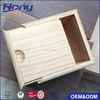 Square Unfinished Pine Packaging Box Custom
