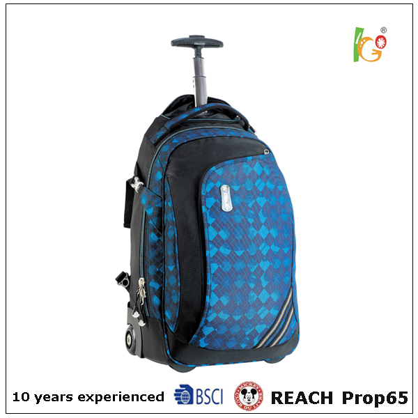 popular nice style blue travel trolley backpack