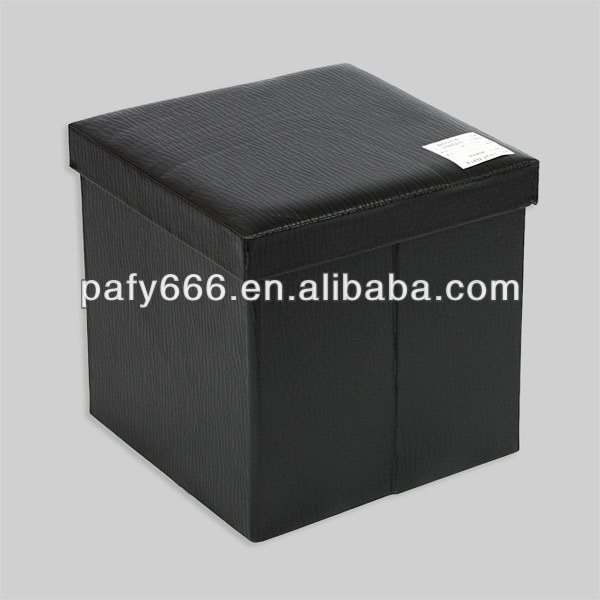 Leather Folded ottoman/stool/storage organizers