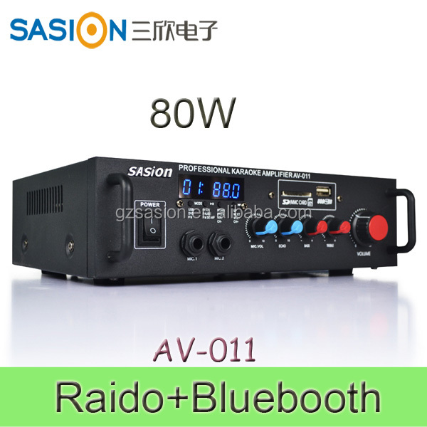 Microphone AM/FM Radio Digital Audio Power Amplifier for home Bar Club